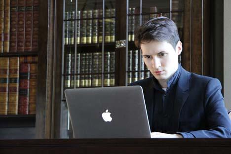 Pável Durov Foto: da pagina de Pável Durov na rede social Vkontakte