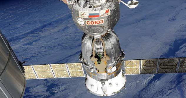 Nave espacial russa Soyuz TMA-22 Foto: Aleksandr Samokutiaev
