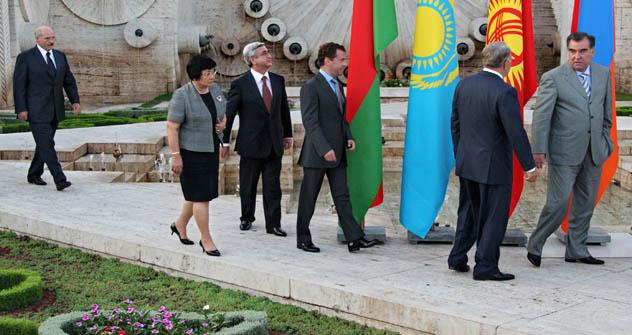 Os líderes da organização: o atual modelo de cooperação não satisfaz integralmente a nenhum dos países-membros Foto: Kommersant