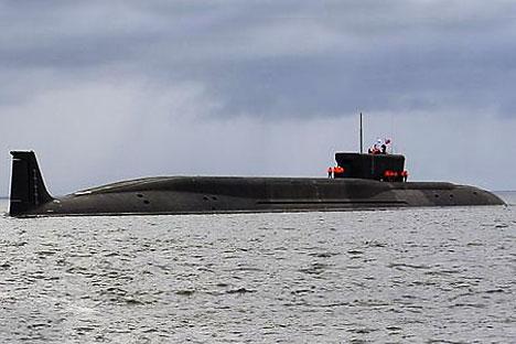 Submarino atômico estratégico de última geração Aleksandr Névski (projeto 955) Foto: militaryphotos.net