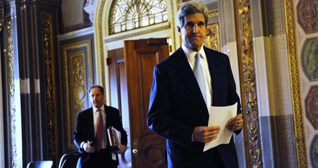 U.S. Senator Kerry walks to the Senate floor during debate over ratification of the START treaty at the U.S. Capitol in WashingtonSource: Reuters/Vostock-photo