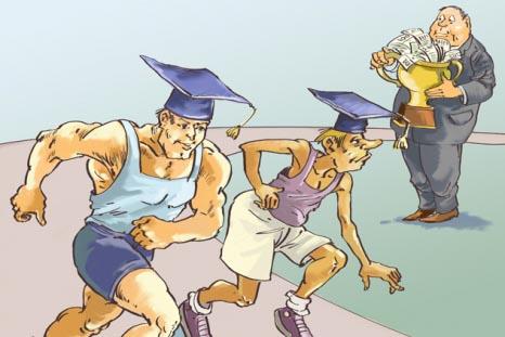 Welche Uni ist die Beste? Der Akademiker-Wettlauf beginnt. Copyright: Dmitr Divin