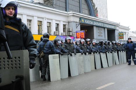 Die Sicherheitskräfte bereiten sich auf neue Proteste vor. Foto: Itar-Tass