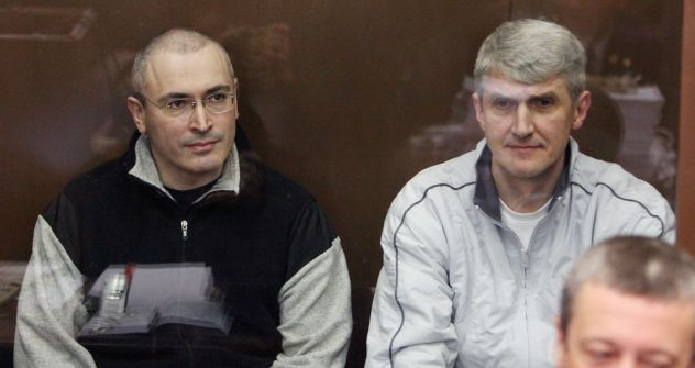 Mikhail Khodorkovsky and Platon Lebedev Photo by Viktor Vasenin, Rossiyskaya Gazeta