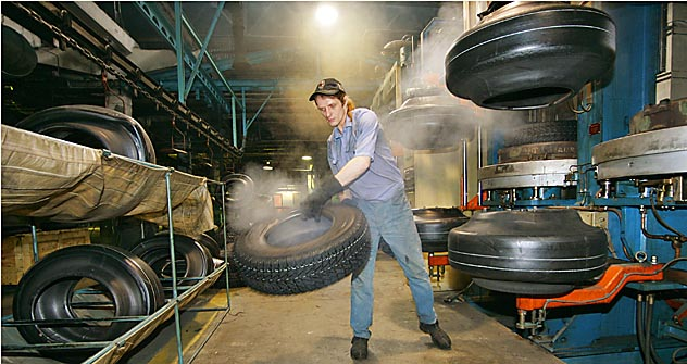 Butyl rubber, or synthetic rubber, is a plastic non-toxic matter used to make isolation coating, film, glue, etc. It's in high demand in construction but also in auto manufacturing as it is a key component for tire production. Source: Itar Tass