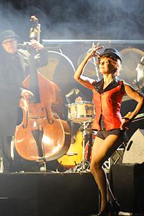 Els Comediants estrenan su Perséfone en el Festival de Teatro de Chéjov. Foto de Itar-Tass