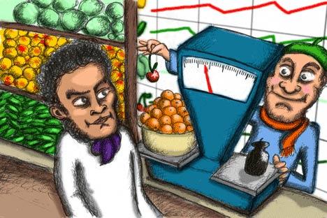 Hoy vamos a aprender a comprar verdura y fruta en el mercado. Imagen de Niyaz Karim