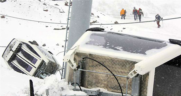 Broken ski lift at the blast site. Source: Reuters