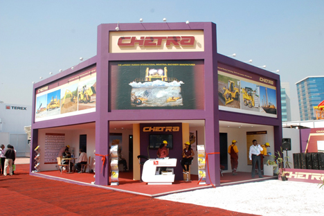 Bauma CONEXPO Show India, Mumbai, India, Feb. 8, 2011.  Source:  www.chetra.ru