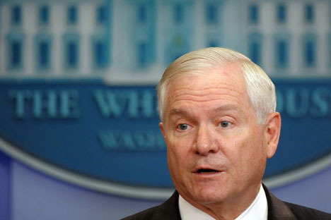U.S. Defense Secretary Robert Gates.   Source: RIA Novosti