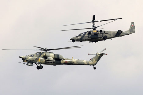 Russian combat helicopters.   Source: RIA Novosti