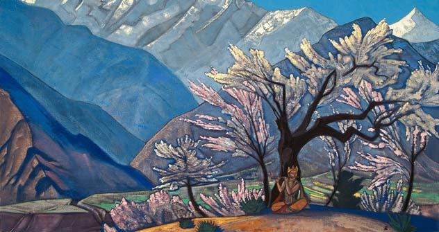 """""""Krishna. Spring in Kulu"""" Nicholas Roerich."""