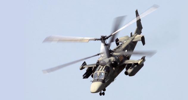 KA-52 Alligator, son of Black Shark, is an all-weather machine, a deal-maker in the mountains.   Source: Reuters/Vostock