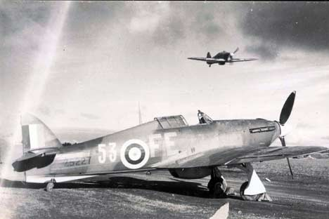 RAF in Russia - Hurricanes