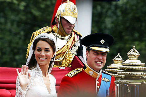 Prince William and his new wife Catherine, Duchess of Cambridge. Source: Reuters/Vostock photo