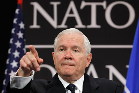 Robert Gates. Source: Reuters