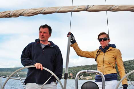 Yuri and Yulia Fadeev graduated from a yacht that had to be rebuilt to a RYA-accredited fleet. Courtesy of Yuri and Yulia Fadeev