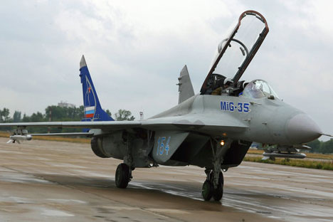 Russia's MiG-35 jet fighter.   Source: RIA Novosti
