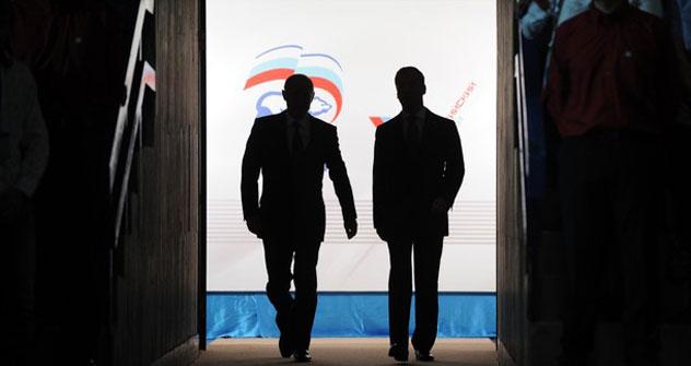 Vladímir Putin y Dmitri Medvédev. Foto de Gettyimages/Fotobank