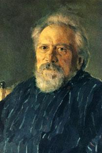 Nikolai Leskov. Retrato de Valentin Serov, 1894