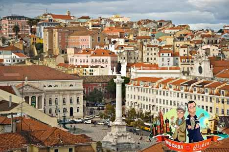 Rossio - einer der drei wichtigsten innerstädtischen Plätze in Lissabon