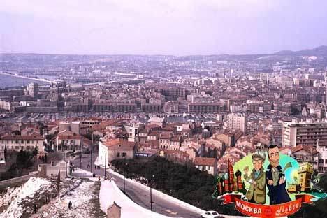 Blick auf Marseille von Notre Dame de la Garde aus