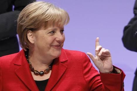 Angela Merkel ist auch in Russland sehr bekannt. Foto: Reuters/Vostock Photo