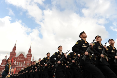 Militärparade zum 66. Jahrestag des Sieges. Foto: AFP/East News