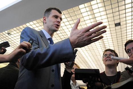 Michael Prochorow, Parteivorsitzende von Prawoje Delo. Foto: Reuters/VostockPhoto