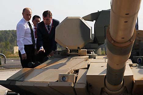 Nuevo tanque para Putin. Foto de RG