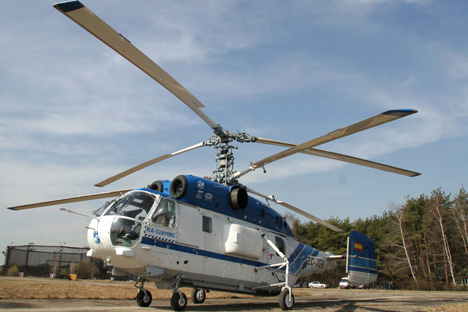 Desenhado como modelo militar naval, o Kamov-32 é usado em larga escala na Europa/Foto:RIA Novosti