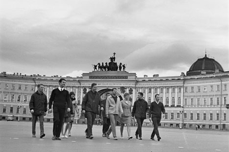DDR-Studenten in Sankt Petersburg. Foto: RIA Novosti