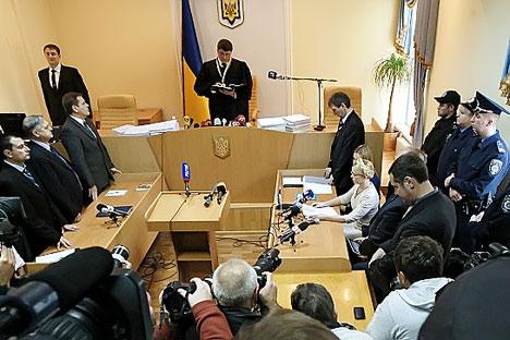 El proceso contra Yulia Timoshenko. Foto de Ria Novosti