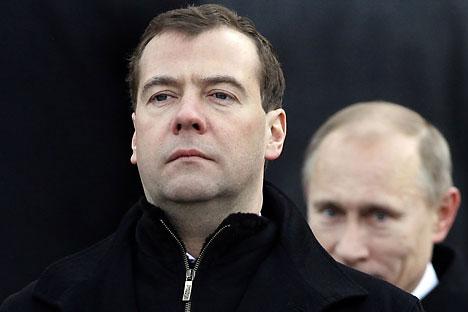 Com personalidades distintas, Medvedev (o moderno) e Pútin (o tradicional) podem atrair eleitores de perfis distintos/Foto:Reuters/Vostock-photo