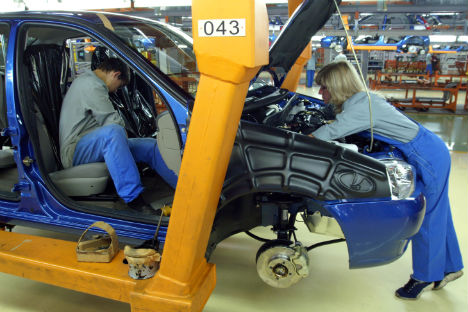 Neue Produktionsanlagen im Automobilwerk AvtoVAZ in Togliatti. Foto: AFP/Eastnews