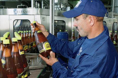 Eine kleine Bierbrauerei in Russland. Foto: ITAR-TASS