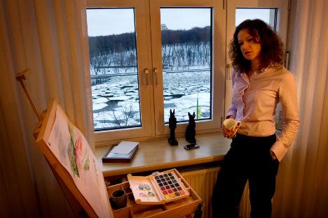 Tauwetter für die Wirtschaft: Wenn Jana Jakowlewa nicht gerade Manager aufklärt, malt sie. Foto: Anna Artemeva