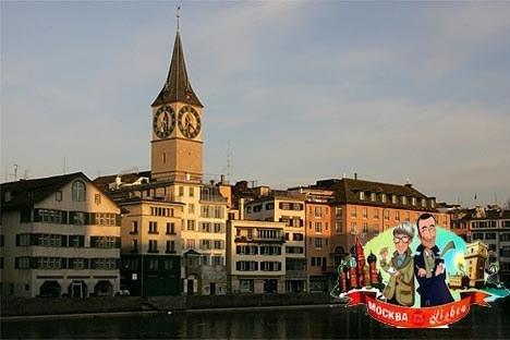 Die St. Peter-Kirche in Zürich