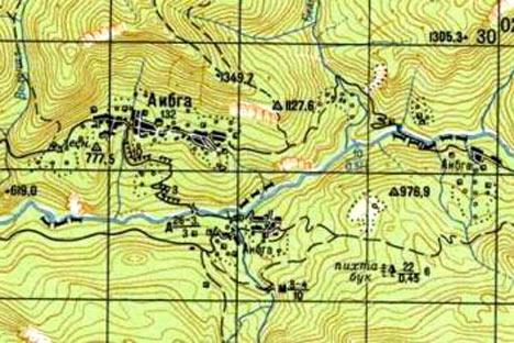 Aibga – ese es el nombre del pueblo- está dividido por el río Psou, el cuál hacía de frontera en los tiempos soviéticos, dejando la parte norte para Rusia y la sur para Abjasia