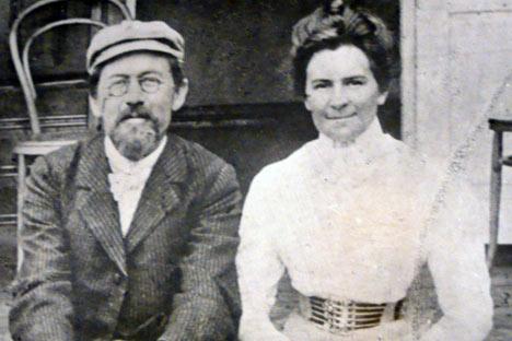 Antón Chéjov y Olga Knipper, 1901