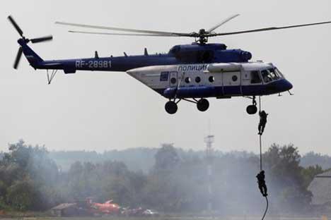 El MI-8, helicóptero de transporte. Foto de AP