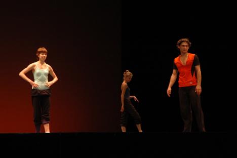 Bailarines rusos ensayando en el Liceo. Foto del servicio de prensa