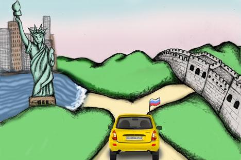 La confusión conceptual sobre la economía global que  se ha desarrollado en los últimos años en Oriente y Occidente. Imagen de Niyaz Karim