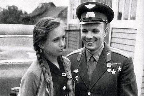 Tamara Filatova e Iúri Gagárin/Foto do arquivo próprio