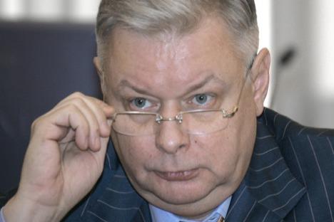 Konstantín Romodánovski, jefe del Servicio federal de migraciones. Foto de RIA Nóvosti