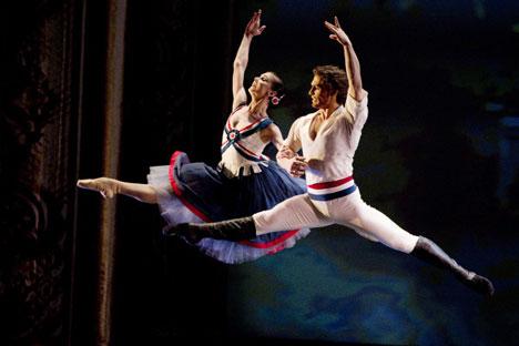 Natalia Ósipova e Iván Vasíliev son la pareja de bailarines con más éxito. Foto de Ria Novosti