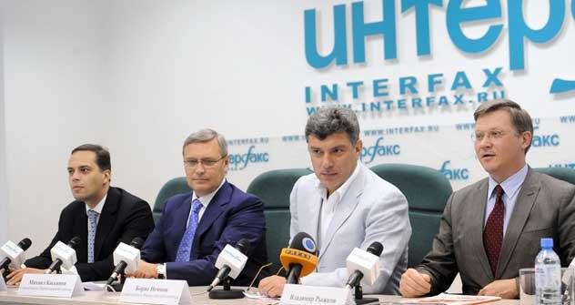 Pressekonferenz der Partei der Volksfreiheit am 23. Mai. Foto: ITAR-TASS
