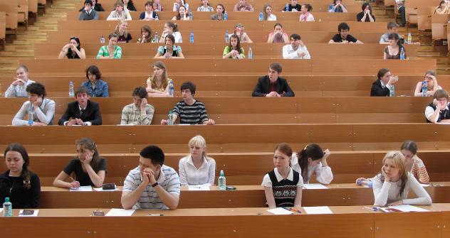 Vorlesung an der Moskauer Lomonossow-Uni: Statt mündlichen Prüfungen jagen Studenten bald nach Credits.Foto: Photoxpress