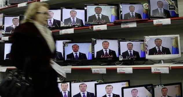 Politik interessiert die Russen nicht. Foto: AP