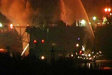 Al menos nueve hospitalizados por incendio de submarino nuclear en el norte de Rusia. Foto de Ria Novosti